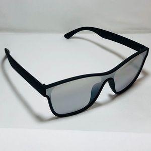 d1b31311c0dc Accessories - Black Silver Square Single Lens Sunglasses